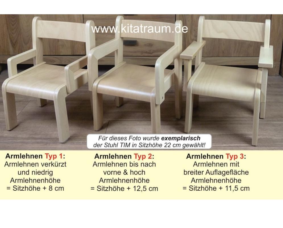 Stuhl ERIC Mit Armlehnen Typ 1 Sitzhöhe 26 Cm