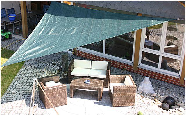 sonnensegel wasserdurchl ssig dreieck 5 x 5 m farbe. Black Bedroom Furniture Sets. Home Design Ideas