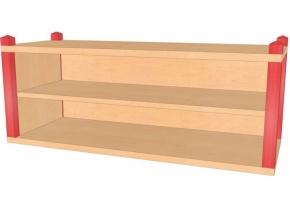 Stollenaufsatz-/hängeregal, B/H/T 106 x 40 x 40 cm