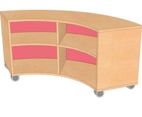 Bogenschrank- Viertelkreis, B/H/T 100 x 60 x 100 cm