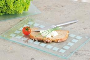 Schneideplatte aus praktisch bruchfestem Glas, 23,5 x 14,5 x H 0,7 cm