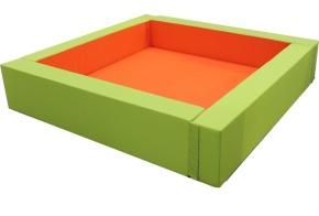 Bällebad Quadrat, 200x200 cm (= innen 2,56 m²), Höhe 50 cm, Wandstärke 20 cm, 1-teilige Ausführung!