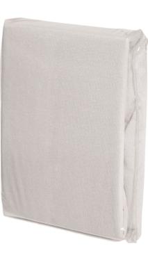 Spannbettlaken WEISS, Baumwoll-Jersey, Universalgröße 60-70 x 120-140 cm