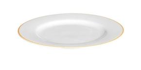 Porzellan farbiger Rand - Frühstücks- / Dessertteller Ø 21 cm ORANGE