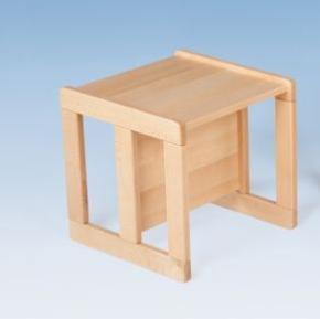 Verwandlungs-Stuhl mit 3 Sitzhöhen und Tischfunktion in einem