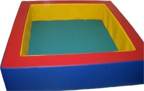 Bällebad Quadrat, 140x140 cm (= innen 1,0 m²), Höhe 40 cm, Wandstärke 20 cm