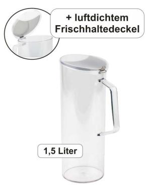 Cerealienkaraffe 1,5 Liter, Ø 10 × Höhe 28 cm, Edelstahl / Kunststoff