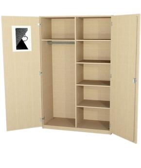 Garderobenschrank mit Innenspiegel, 190 cm hoch (Maße wählen)