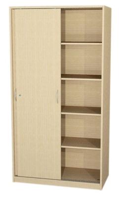 Schrank mit Schiebetüren und Mittelwand, 190 cm hoch (Maße wählen)