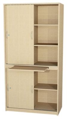 Schrank mit Schiebetüren und Tablarauszug, 190 cm hoch (Maße wählen)