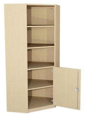 Eckschrank mit halbhoher Tür, 190 cm hoch (Maße wählen)