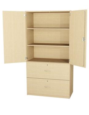 Schrank mit Türen und 2 Schubkästen, 190 cm hoch (Maße wählen)