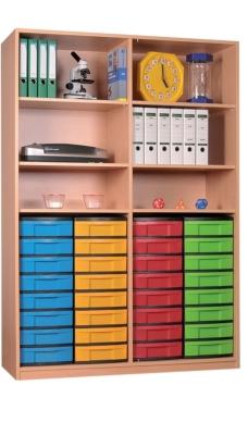 Materialschrank offen mit 32 niedrigen Schüben, B/H/T: 127 x 190 x 50 cm