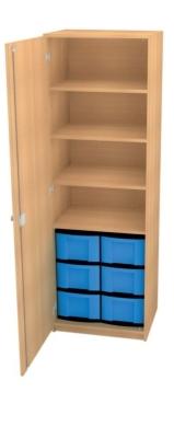 Schrank mit 6 hohen Schüben, B/H/T: 66 x 152 x 50 cm