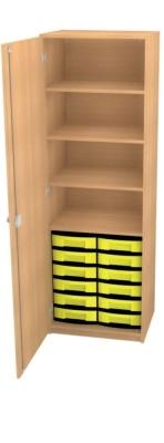 Schrank mit 12 flachen Schüben, B/H/T: 66 x 152 x 50 cm