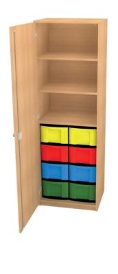 Schrank mit 8 hohen Schüben, B/H/T: 66 x 152 x 50 cm