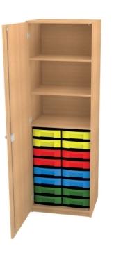 Schrank mit 16 flachen Schüben, B/H/T: 66 x 152 x 50 cm