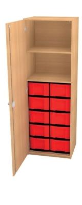 Schrank mit 10 hohen Schüben, B/H/T: 66 x 152 x 50 cm