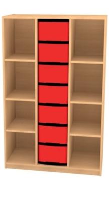 Breites Regal mit 7 Schüben, B/H/T: 98 x 152 x 50 cm
