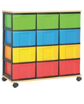 Materialcontainer 3-reihig hoch, B/H/T: 91 x 97 x 40 cm