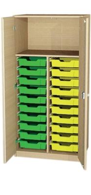 Schrank 2-reihig mit 2x10 flachen Kästen, B/H/T: 70,2 x 152 x 50 cm