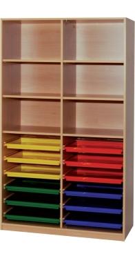 Materialregal mit 2x6 Flachschüben, B/H/T: 113×190×50 cm