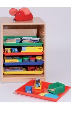 Materialcontainer mit 5 Flachschüben, B/H/T: 58×80×50 cm