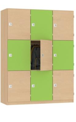 Fächerschrank Variante 1, B/H/T: 128×170×45 cm