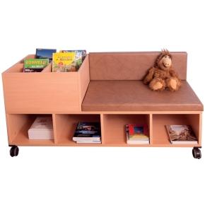 Fahrbare Bücherbank, B/H/T: 150×75×60 cm