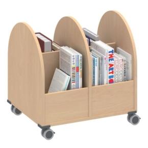 Bücherwagen 2-reihig, B/H/T: 66,1×66,4×55 cm