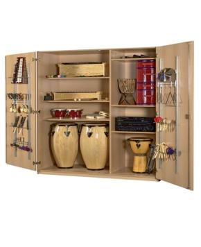 Breiter Musikinstrumentenschrank mit Kuststoffschüben, B/H/T: 148×190×60 cm