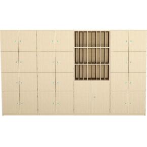 Lehrer-Schrankwand Typ2, B/H/T: 450×190×40 cm
