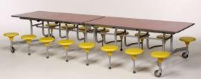 16-Sitzer rechteckig, Tischgröße 305,1 x 75,0 cm, Tischhöhe 61 cm, Sitzhöhe 34 cm
