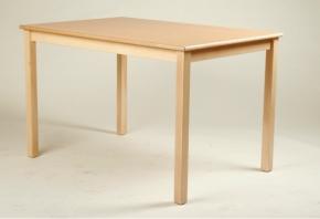 Rechteck-Tisch 120 x 60 cm, Tischplatte aus HPL Buche natur (Tischhöhe 42 - 76 cm)