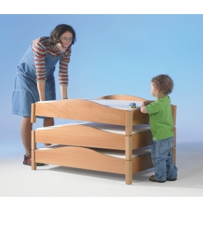 Stapelbett mit geschwungener Aufkantung, Liegefläche 60x120 cm