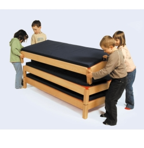 Stapelbett ohne Aufkantung, Liegefläche 60x120 cm
