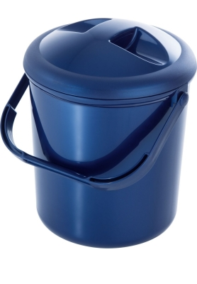 Windeleimer mit Runddeckel, 10 Liter, blau