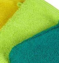 Waschhandschuhe 16x21 cm, schwere Qualität, (APFEL-)GRÜN