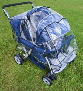 Regenverdeck, passend für Krippenwagen 4-Sitzer von Rabo und Angeles