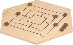 Abverkauf: Ludo 6er & Mühle aus Holz, Brettspiel