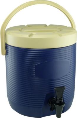 Thermo-Getränkebehälter 12 Liter BLAU, außen HDPE-Kunststoff, Innenbehälter Edelstahl