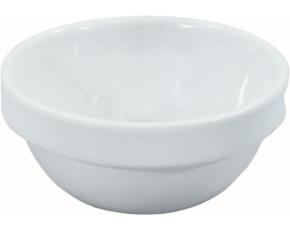"Porzellan Serie ""gut & günstig"" - (2) Schale mit Stapelrand 0,18 Liter, Ø 105 x H 43 mm"