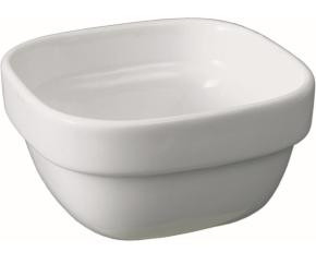 """Porzellan Serie """"gut & günstig"""" - (4) Schale quadratisch mit Stapelrand 0,22 Liter, 10 x 10 cm, H 52 mm"""