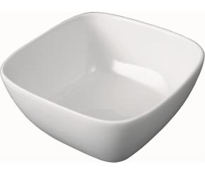 """Porzellan Serie """"gut & günstig"""" - (5) Schale quadratisch mit Stapelrand (Größe wählen)"""