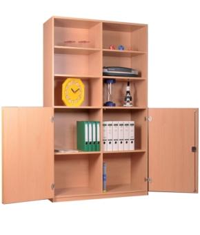 Schrank mit Mittelwand und halbhohen Türen, B/H/T: 127 x 190 x 50 cm