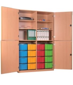 breiter Materialschrank mit 4 Türen B/H/T: 127 x 190 x 50 cm