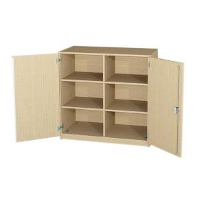 Unterschrank mit 2 Türen und Mittelwand, 98 cm hoch (Maße wählen)