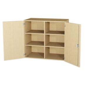 Aufsatzschrank mit 2 Türen und Mittelwand, 92 cm hoch (Maße wählen)
