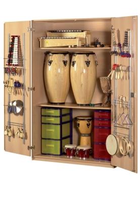 Instrumentenschrank mit Kuststoffschüben, B/H/T: 105×190×60 cm