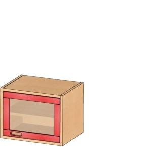 Aufsatz-/Hängeschrank, B/H/T 52 x 40 x 40 cm